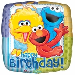 "17"" Sesame Street Birthday Helium Savers Balloon"