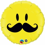 "18"" Smile Face Mustache Balloon"
