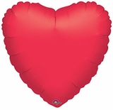 """18"""" Solid Red Heart Balloon"""