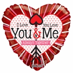 "18"" SV I Love You & You Love Me Balloon"