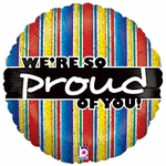 "18"" We're So Proud of You Holographic Balloon"