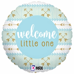 "18"" Welcome Little One Blue Balloon"