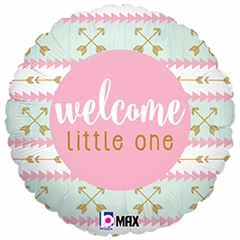 "18"" Welcome Little One Pink Balloon"