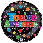 "18"" You're Awesome  Holographic Balloon"
