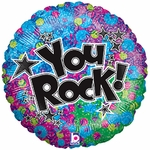 "18"" You Rock!  Holographic Balloon"