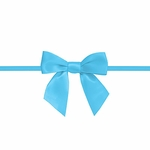 """2.5"""" Blue Bow with Ties"""