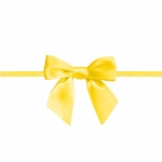 """2.5"""" Yellow bow with Ties"""