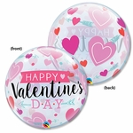 "22"" Valentine Arrows & Hearts Bubble Balloon"