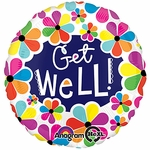 Jumbo Get Well Petals Helium Savers Balloon