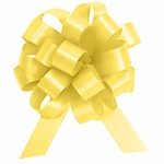 Yellow Satin Medium Pull Bow