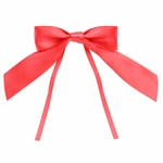 """4"""" Bright Red Bow with Ties"""