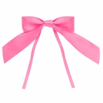 """4"""" Pink Bow with Ties"""