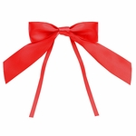 """4"""" Red Bow with Ties"""