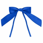 """4"""" Royal Blue Bow with Ties"""