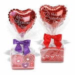 "4"" Valentine Cello Box Candy Gift"