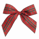 """5"""" Christmas Bow Red/Green/Gold Plaid"""