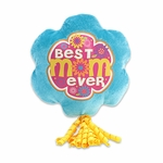 "6"" Best Mom Ever Plush Pick w/Corker Bow"