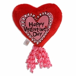 "6"" Hand Drawn Heart Toss Plush Pick w/Corker Bow"