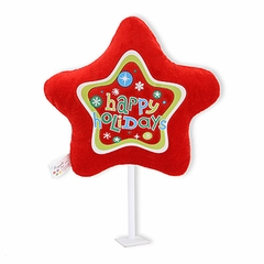 "6"" Happy Holidays Red Plush Pick"