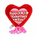 "6"" Happy Valentine's Day Repeat Heart Plush Pick w/Corker Bow"