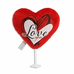 "6"" Hand Drawn Heart Plush Pick"