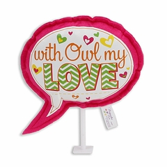 "6"" Speech Bubble Pick: Owl Love"