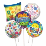 "9"" Get Well Preinflated Balloons"