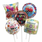 "9"" Birthday Assorted Preinflated Balloons"