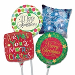 "9"" Christmas Air-Filled Balloons"
