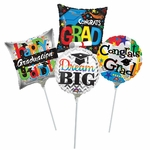 "9"" Graduation Air-Filled Balloons"