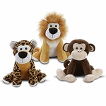 "9"" Sitting Safari Plush Assortment"