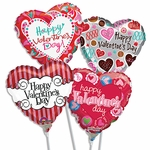 "9"" Valentine's Day Air-Filled Balloons"