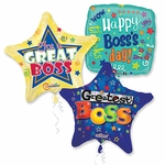 """Assorted Boss's Day 18"""" Balloons with Ribbons"""