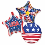 "Assorted Patriotic 18"" Balloons"