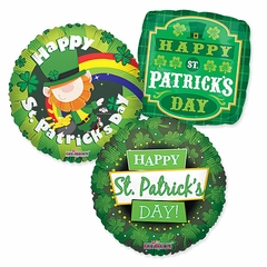 """Assorted St. Patrick's Day 18"""" Balloons"""