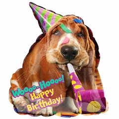 Avanti Basset Hound Birthday Shape Balloon