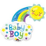 Baby Boy Bright Happy Sun Shape Balloon
