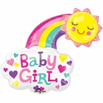 Baby Girl Bright Happy Sun Shape Balloon