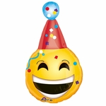 "18"" Bday Emoji Junior Shape Balloon"