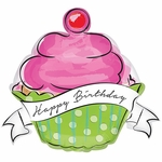 Birthday Sweet Cupcake Shape Balloon
