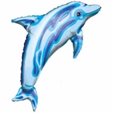 Blue Dolphin Shape Balloon