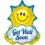 BV Get Well Soon Helium Shape Balloon