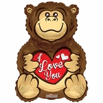 BV Gorilla Love You Helium Shape Balloon