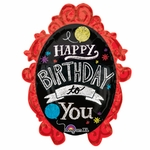 Chalkboard Frame Birthday Shape Balloon