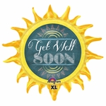 Chalkboard Get Well Sun Shape Balloon