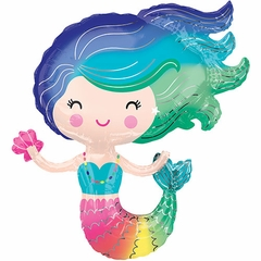 Colorful Mermaid Shape Balloon