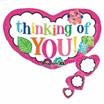 Colorful Thinking of You Shape Balloon
