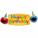 Elmo Fun Happy Birthday Helium Shape Balloon