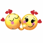 Emoticons in Love Helium Shape Balloon