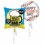 Father's Day Jumbo Helium Balloon Assortment with Ribbon